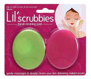 lil scrubbies cleansing pads green and pink